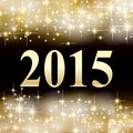 Golden new year background Stock Photo