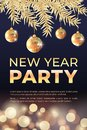 Golden new year party banner