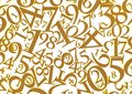 Golden numbers background Stock Photography