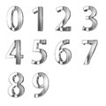 Golden numbers isolated with clippign path Royalty Free Stock Image