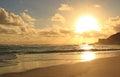 Golden ocean sunset Royalty Free Stock Photo