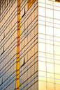 Golden Office building glass wall Royalty Free Stock Photo