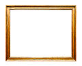 Golden old frame horizontal isolated on white no with clipping paths Stock Image