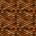 Golden Orange Scales Seamless Pattern Stock Photography