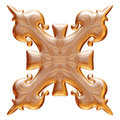 Golden Ornamental With Metal L...