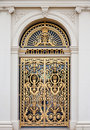 Golden ornate door Stock Images