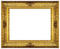 Golden Ornate Frame Stock Photography