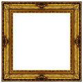Golden Ornate Frame Stock Photos