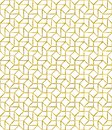 Golden outline vector pattern mosaic inspired