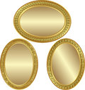 Golden oval background Stock Photography