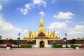 Golden pagada in Pha-That Luang temple Stock Image
