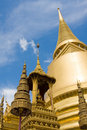Golden pagoda in Bangkok Stock Photography