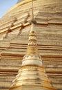 Golden pagoda – elements of shwedagon paya in yangon myanmar Stock Images