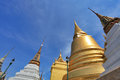 Golden pagoda in the grand palace bangkok a thailand Stock Image