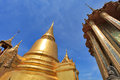Golden pagoda in the grand palace bangkok a thailand Stock Photo