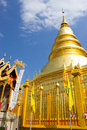 Golden pagoda in Lamphun Royalty Free Stock Image