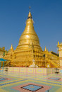Golden pagoda in Sagaing hill, Myanmar Stock Image