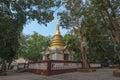 Golden pagoda Tha Chalaep, Chanthaburi, Thailand.