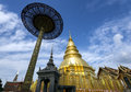 Golden Pagoda at Wat Phra That Hariphunchai , Lamphun Province, Thailand Royalty Free Stock Photos