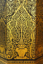 Golden painting in Thai temples Royalty Free Stock Photography