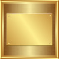 Golden panel Stock Photo