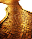Golden path Royalty Free Stock Photo