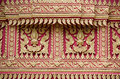 Golden pattern carving in on the Buddhist temple Stock Image