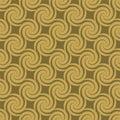 Golden pattern swirl Στοκ Εικόνες