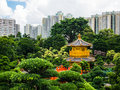 stock image of  Golden pavilion of absolute perfection in Nan Lian Garden in Chi