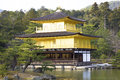 Golden pavilion kinkakuji temple in kyoto japan Stock Photo