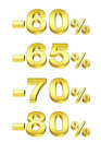 Golden percent Royalty Free Stock Photos