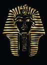 Golden pharaoh illustration on black background Royalty Free Stock Images