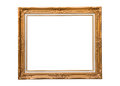 Golden photo frame Royalty Free Stock Photo
