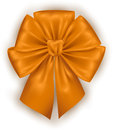 Golden photorealistic bow illustration of silk Stock Images