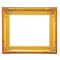 Golden picture frame Stock Images