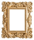 Golden picture frame baroque style vintage art object Stock Images