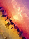 Golden and pink triangles brighten wallpaper background with dot pattern Royalty Free Stock Photo