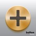 Golden plus button with black symbol