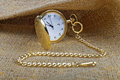 Golden pocket watch Royalty Free Stock Photo