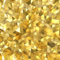 Golden polygon wall