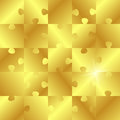 Golden puzzle Royalty Free Stock Image