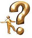 Golden question mark Royalty Free Stock Images