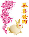 Golden rabbit on white background Royalty Free Stock Photo