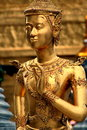 Golden Ramakien Statue Royalty Free Stock Photography