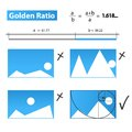 Golden ratio golden proportion or template vector illustration Stock Photography