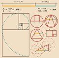Golden ratio golden proportion vector illustration Royalty Free Stock Photos