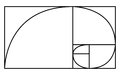Golden Ratio icon or logo in modern line style.