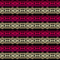 Golden and red seamless lace ribbon trim pattern background Royalty Free Stock Photo