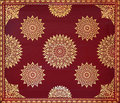 Golden on red thai painting wallpaper Stock Photography