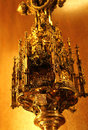 The golden relic detail from a cordoba cathedral Royalty Free Stock Photo
